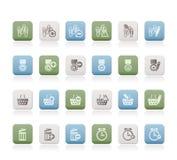 24 website för affärssymbolskontor stock illustrationer