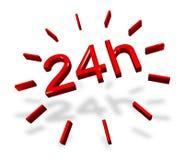 24 wokoło godzina zegarowego symbolu ilustracja wektor