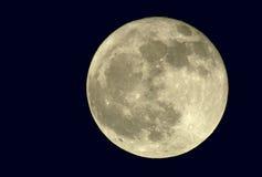真2400mm的满月 图库摄影