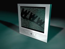 平面式屏幕电视 库存照片