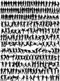 245收集人silhouett 免版税库存照片