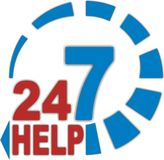247 Help. Jpeg and vector ilustration Stock Image
