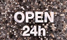24h开放地区的街市 免版税库存图片
