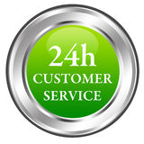 24h customer service. Having a permanent 24 hour customer service Royalty Free Stock Image