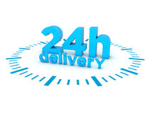 24h delivery Stock Images