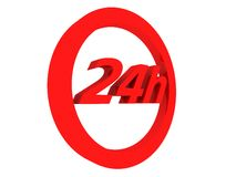 24h Express. 3d rendered illustration of a red express sign Stock Photos
