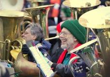 24th Boston TubaChristmas. BOSTON - NOVEMBER 28: Nearly 200 Tuba Musicians participated in the 24th Boston Tuba Christmas on November 28, 2009 in Boston Stock Photos