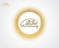 25ème anniversaire illustration de vecteur