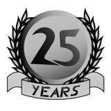 25ème Emblème d'anniversaire illustration libre de droits