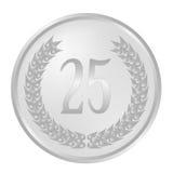 25ème guirlande de laurier d'anniversaire illustration stock