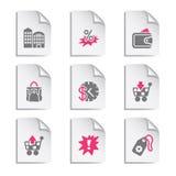 25个文件灰色集 免版税图库摄影