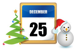 25 ημερολόγιο Δεκέμβριος διανυσματική απεικόνιση