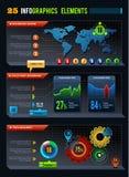 25 στοιχεία σχεδίου Infographics Στοκ φωτογραφία με δικαίωμα ελεύθερης χρήσης