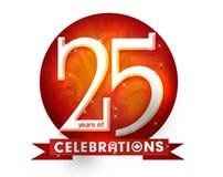 25 лет celebtation Стоковые Фото
