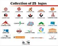 25 установленных логосов логоса Стоковое Изображение