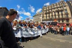 25 2011 гордостей Франции голубых paris -го июня Стоковая Фотография
