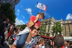25 2011 гордостей Франции голубых paris -го июня Стоковое Изображение RF