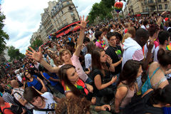 25 2011 france glada juni paris stolthet Arkivfoton