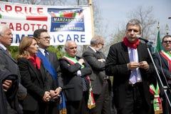 25 4月2010日意大利marzabotto nichi vendola 免版税库存照片