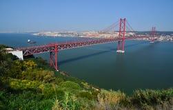 25 abril Kwiecień bridżowy de Lisbon Portugal Obraz Royalty Free