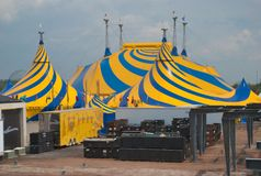 25 anniversary cirque du ovo soleil Th村庄 图库摄影