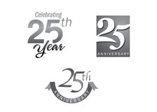 25 anos de jubileu do aniversário Imagem de Stock