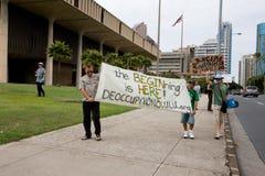 25 anty apec Honolulu zajmuje protest Zdjęcia Stock