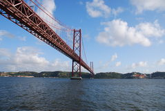 25. April-Brücke in Lissabon, Portugal Stockfotografie