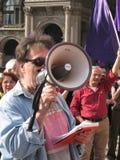25 april, de parade van de Dag van de Bevrijding in Milaan. Italië, Stock Afbeelding