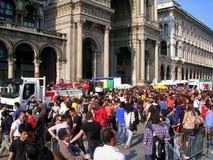 25 aprile, parata di giorno di liberazione a Milano. L'Italia, Fotografia Stock Libera da Diritti