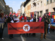 25 avril, défilé de jour de libération à Milan. l'Italie, Images stock