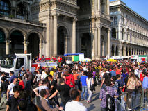 25 avril, défilé de jour de libération à Milan. l'Italie, Photo libre de droits