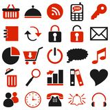 25 black red icons. Web Royalty Free Stock Image