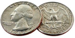 25 centów Zdjęcia Stock