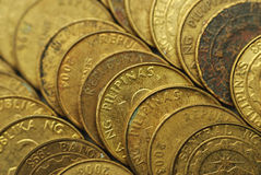 25 Centavo Philippine Coins Royalty Free Stock Photo