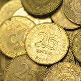 25 Centavophilippine-Münzen Stockfoto