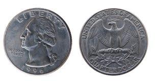 25 centesimi Stati Uniti. Immagine Stock