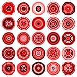 25 colored circles Stock Photo