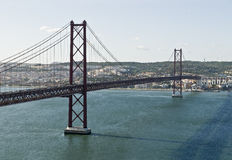25 de Abril bridge. Royalty Free Stock Photos