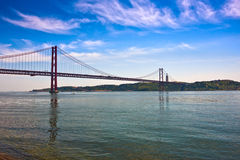The 25 de Abril Bridge (25th of April) Royalty Free Stock Photos
