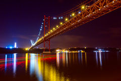 The 25 De Abril Bridge in Lisbon Royalty Free Stock Photo