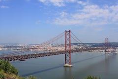 25 De Abril Przerzucający most Zdjęcia Royalty Free