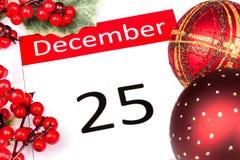 25 December Stock Foto's
