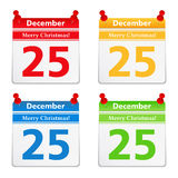 25 December. Calendar pages with 25 december Royalty Free Stock Photography