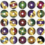 25 descripteurs CD ou de DVD de vecteur d'étiquette illustration de vecteur