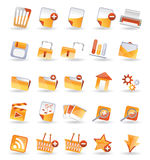 25 Detailed Internet Icon. S - vector icon set Royalty Free Stock Photo