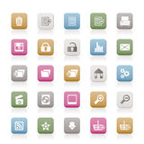 25 Detailed Internet Icons. Vector Icon Set Royalty Free Stock Images