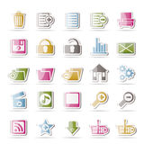 25 Detailed Internet Icons. Vector Icon Set Royalty Free Stock Photo