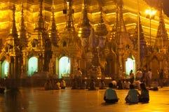 25 Feb festiwalu Myanmar shwedagon Yangon Obraz Royalty Free
