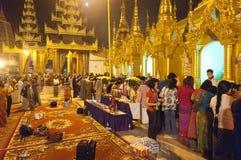 25 Feb festiwalu Myanmar shwedagon Yangon Zdjęcie Stock